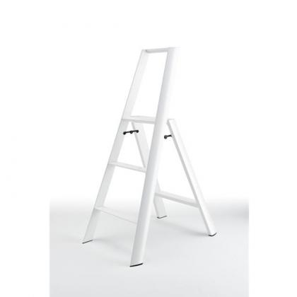 Lucano 3-porrasjakkara valkoinen