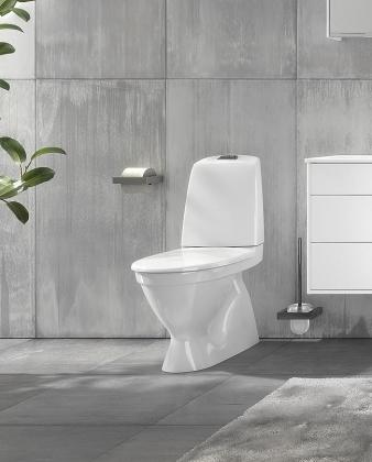 WC-istuin Nautic 1500 piilo S-lukko, 2-H, Hygienic Flush,kanneton