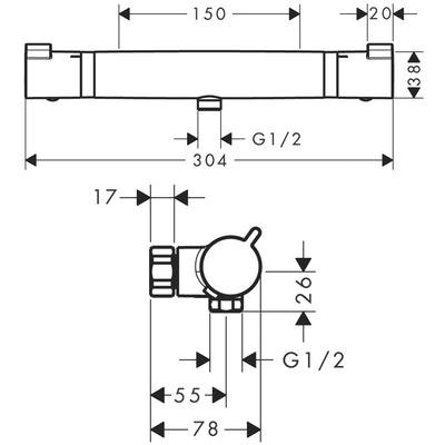 Hansgrohe termostaattinen suihkuhana  Ecostat Comfort