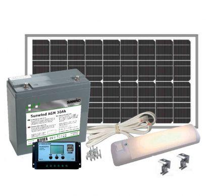 Aurinkoenergiapaketti Sunwind Pikkula 12V