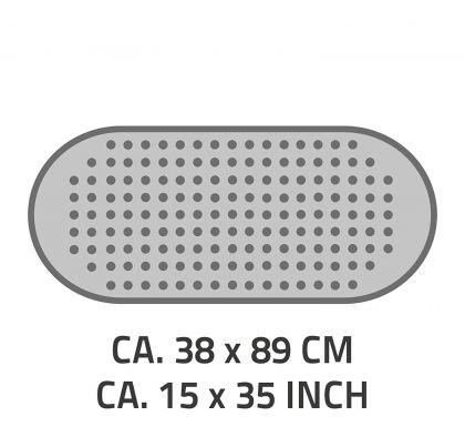 Suihkumatto liukumaton Ridder 38x89 cm, beige