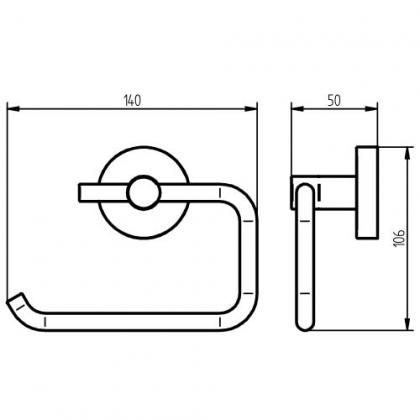 Haceka WC-paperiteline KOSMOS Tec harjattu teräs