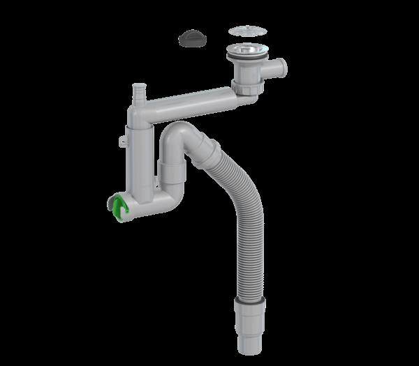 Keittiövesilukko Prevex smartlock 1-altainen 70 mm sihti