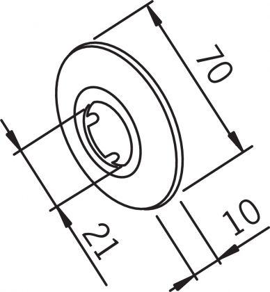 PEITELAIPPA ORAS 1/2-70 MM KORK. 10 MM 121787
