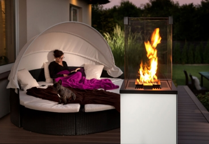 Terrace heater Kratki Patio Mini white