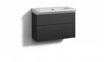 Svedbergs allaskaluste Forma 80x35 + Fjord allas musta tammi 2 laatikkoa integr.vedin