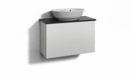 Svedbergs kaappi Forma 80x35 valkoinen + Ellipse maljaallas 1 laatikko
