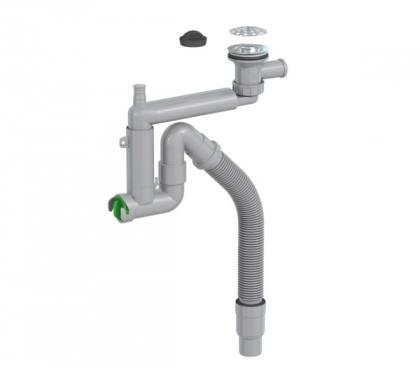 Keittiövesilukko Prevex Smartlock 1-altainen 70 mm sihti ja tulppa