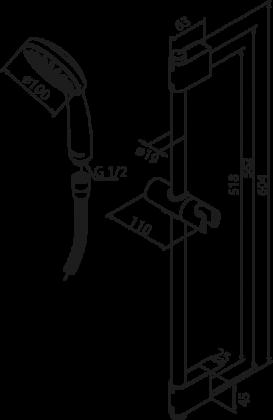 Käsisuihkusetti Damixa Space Fair Jet