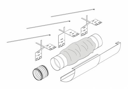Äänenvaimennin Pax Ventilation kit
