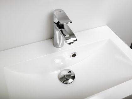 Allaskaappi altaalla 800 mm Stella Premium 2 laatikolla, valkoinen