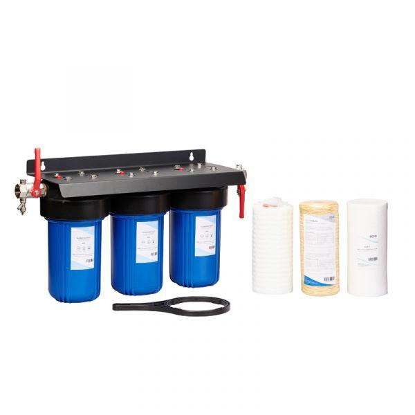 Vesisuodatinyhdistelmä AQVA L - suodattaa bakteerit-humus-rautaa-mangaania