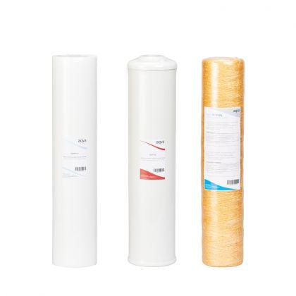 Vaihtosuodatinpaketti AQVA XL - rauta, mangaani