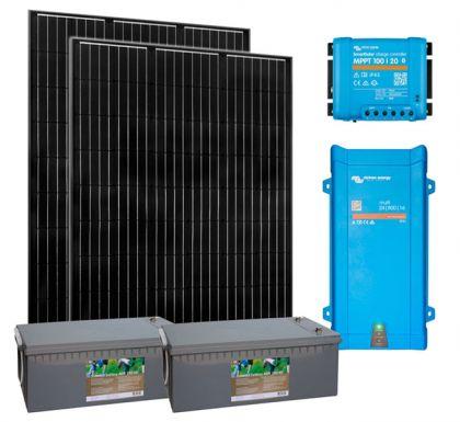 Aurinkoenergiapaketti Sunwind Hut 230V, jääkaappi, tv, valot