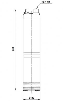 AVOKAIVOPUMPPU GRUNDFOS SB HF 5-55 A 1-V 20M