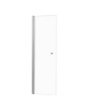 Shower panel A, movable, curved, clear 195 cm ht
