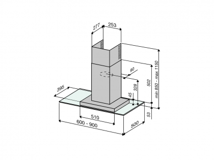 Savo LiesituuletinC-6306-S 60 cm RST/lasi