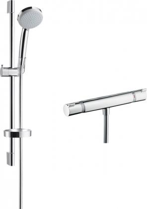 Amme-ja suihkuhana Hansgrohe Croma 100 Ecosmart/Ecostat Comfort Nordic suihkutermostaatti