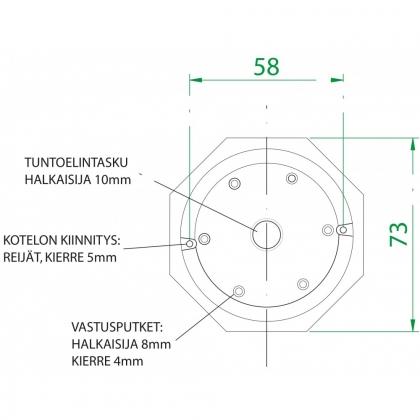 Effekt 120PI 400v 730mm Vastussauva AISI825