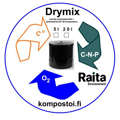 Kompostirouhe Raita Drymix 5L tai 20L