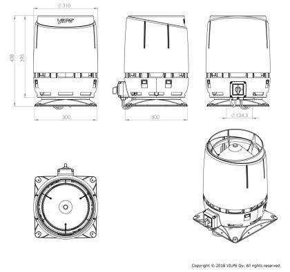 Huippuimuri Vilpe ECo125S Flow+ as.sarja 300X300 ruskea