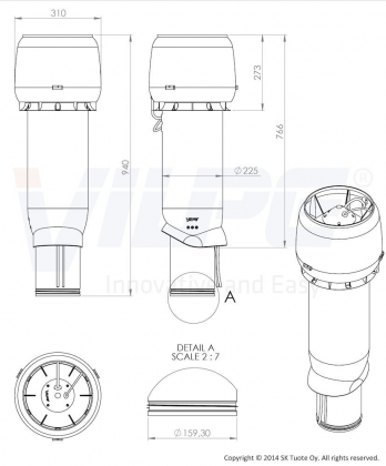 Huippuimuri Vilpe Eco 220P/160/ER/700 harmaa