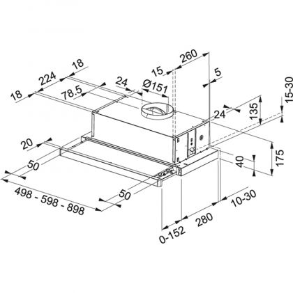 Liesikupu, kalusteeseen Franke Flexa FTC 512 XS, 50 cm, RST