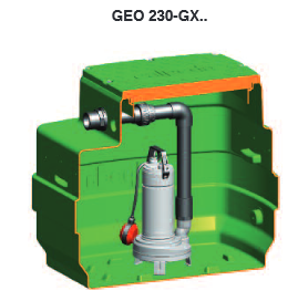 Geo 230 kellaripumppaamo perusvedelle