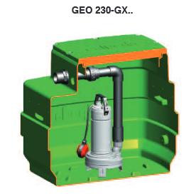 Geo 230 kellaripumppaamo jätevedelle