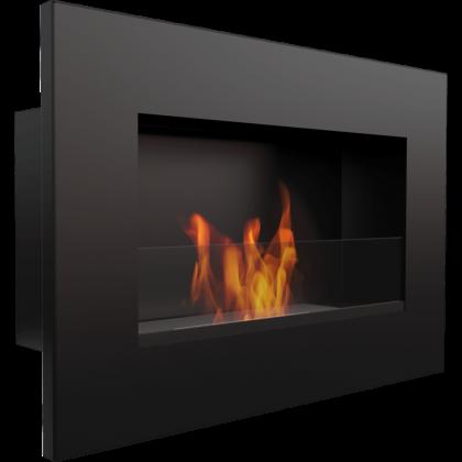 Biofireplace Kratki Golf black with glass wall mounted