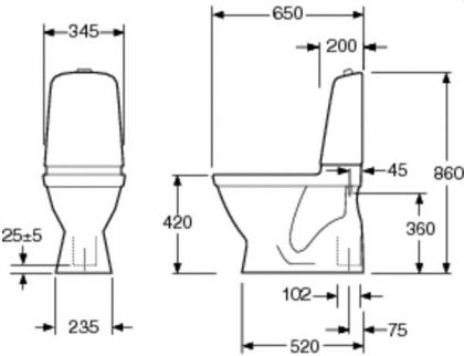 Gustavsberg wc-istuin 5500 SC/QR