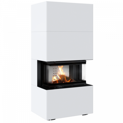 Modular fireplace HOME EASY BOX, NBC 7, steel casing, white