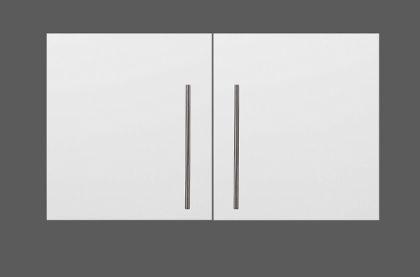 Yläkaappi HS 100 x 56 x 34 cm rst teräs, valkoinen