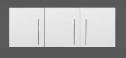 Yläkaappi HS 150 x 56 x 34 cm rst teräs, valkoinen, vasen