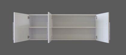 Yläkaappi HS 150 x 56 x 34 cm rst teräs, valkoinen, oikea