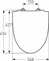 WC -istuinkansi IDO Glow kova 91571 valkoinen