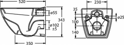 Seinä-WC IDO Seven D 76120