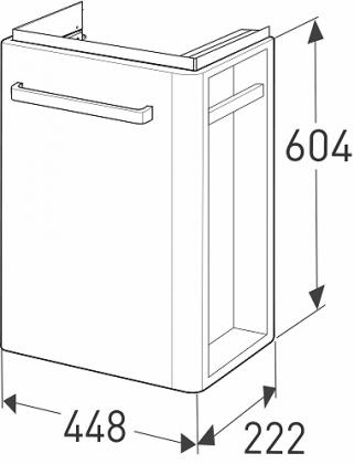 Ido Renova Compact allaskaappipaketti 45