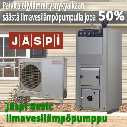Ilmavesilämpöpumppu Jäspi Basic mono 8kW