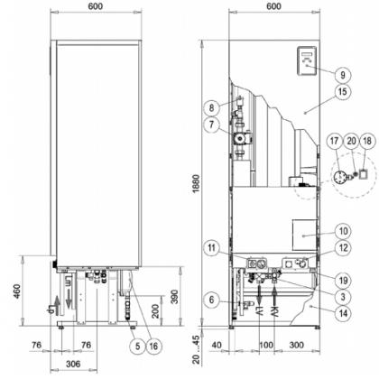 Electric boiler Jäspi Tehowatti 13 Kw
