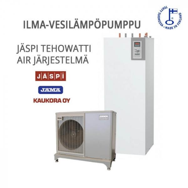 Ilma-Vesilämpöpumppu järjestelmä Jäspi Tehowatti AIR