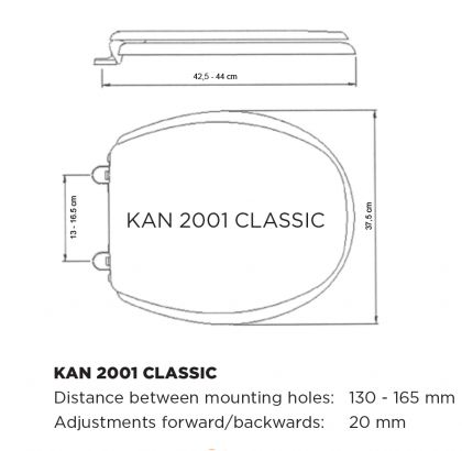 Wc-seat cover Kan 2001 Classic, ultramarine
