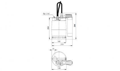 Grundfos KP 150AV 1-V tyhjennyspumppu