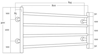 Rej Design kuivain Largo EH 80404 V/Y, O/A