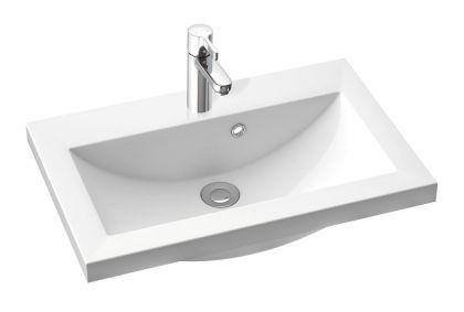 Allaskaappi altaalla 1000 mm Stella Premium 2 laatikolla, korkeakiilto valkoinen