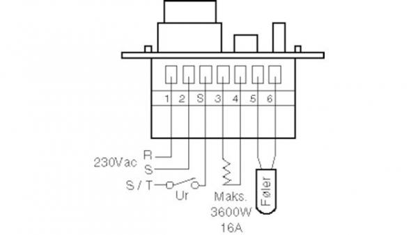 Lattiatermostaatti Microtemp MTC-1991H11
