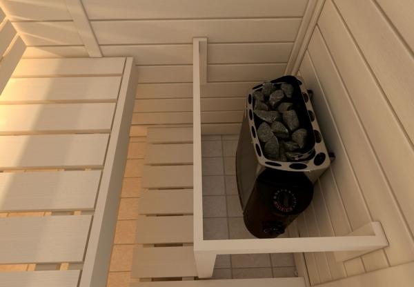Sähkökiuas Mini TRENDLINE 3,6kW ,kiinteä ohjauskeskus