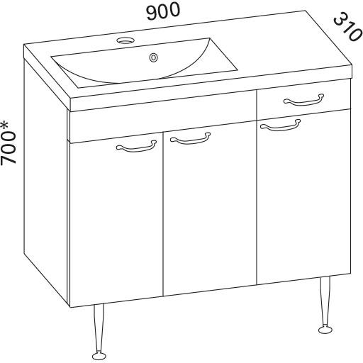 Klypyhuoneryhmä Otsoson Mini Clever 900 vasen valkoinen sileä