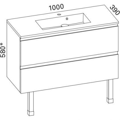 Allaskaappi Otsoson Minimeri 1000,valkoinen ilman vetimiä