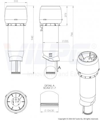 Huippuimuri Vilpe Eco 190P/125/ER/700 ruskea